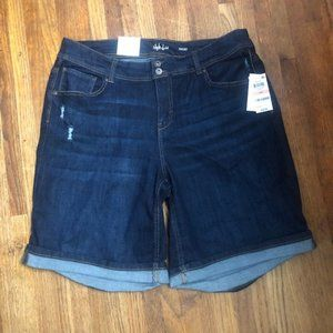 Style & Co Plus Distressed Denim Shorts 14W